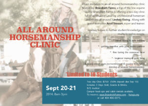 All Around Horsemanship Clinic